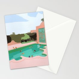 Backyard dip Stationery Cards