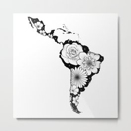 America Latina with flowers and stars Metal Print