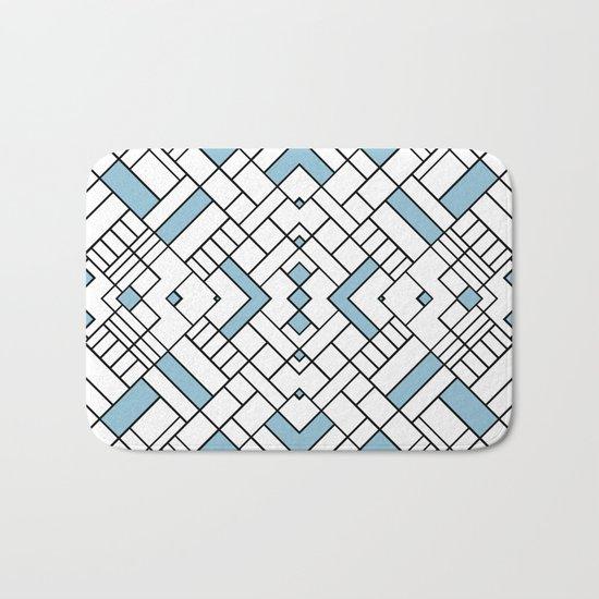 PS Grid 45 Sky Blue Bath Mat