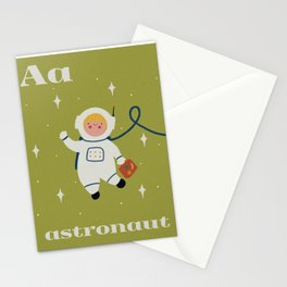 A is for Astronaut Stationery Cards