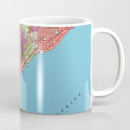 Vintage Map of Duluth Minnesota (1953) Coffee Mug