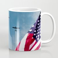 america Mugs featuring America by TexasArt