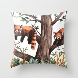 Red Pandas Throw Pillow