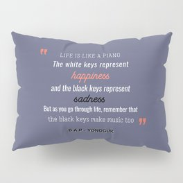 B.A.P Yongguk Quote Pillow Sham