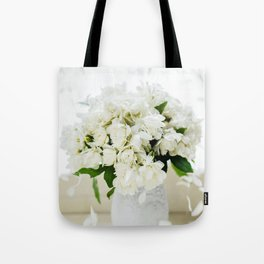 Rosas blancas Tote Bag