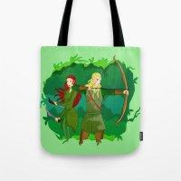 legolas Tote Bags featuring Legolas by hikary