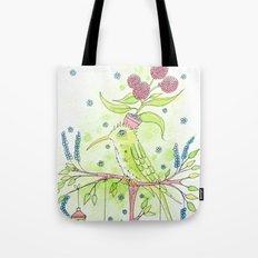 Flowerpot bird Tote Bag
