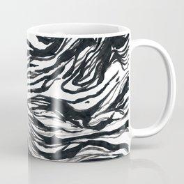 Marbled Black Coffee Mug