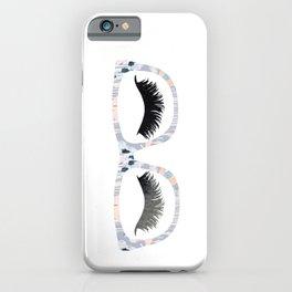 Glasses and Lashes (aka Nerdy and Flirty) iPhone Case