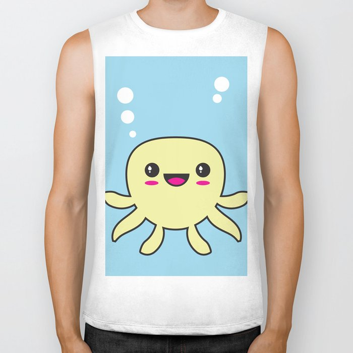 Kawaii Octopus Biker Tank