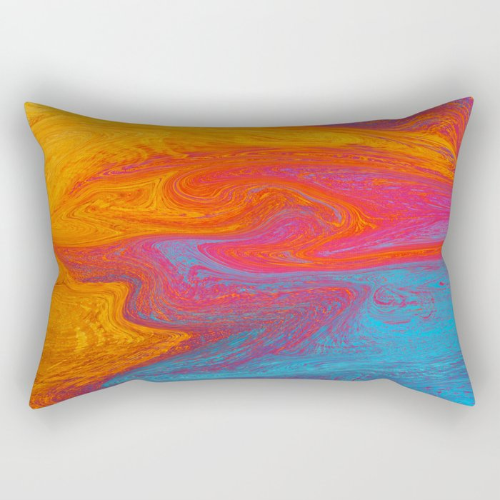 Marbled IX Rectangular Pillow