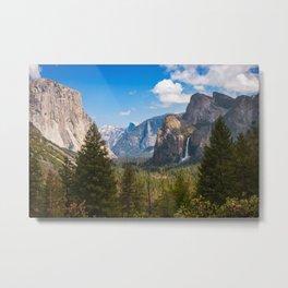 Bridalveil Fall Landscape, Yosemite Metal Print