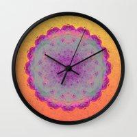 moonrise Wall Clocks featuring Moonrise by Peta Herbert
