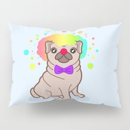 Pug dog in a clown costume Pillow Sham