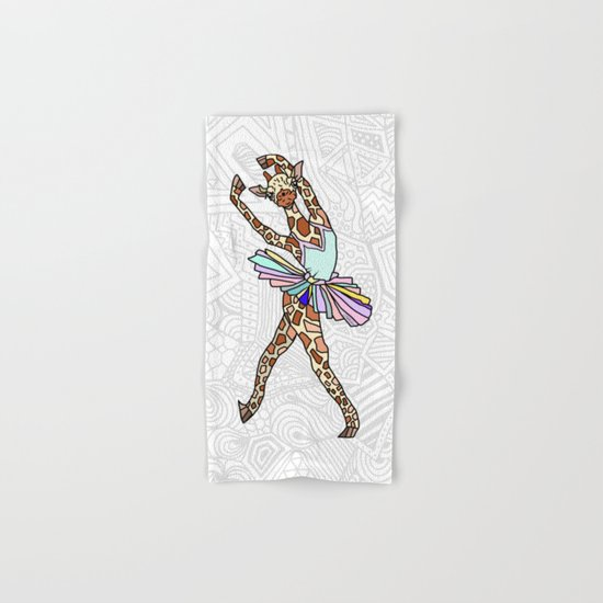 Giraffe Ballerina Tutu Hand & Bath Towel