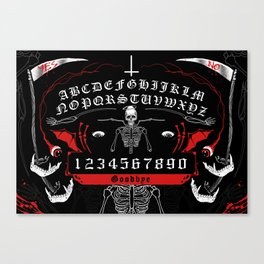 OUIJA Board Skull Canvas Print