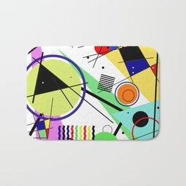 Retro Crazy - Abstract, random, crazy, geometric, colourful artwork Bath Mat