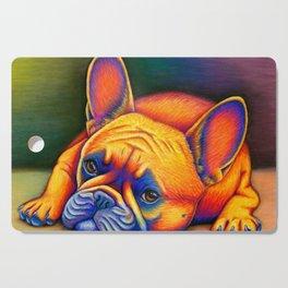 Colorful French Bulldog Rainbow Dog Pet Portrait Cutting Board