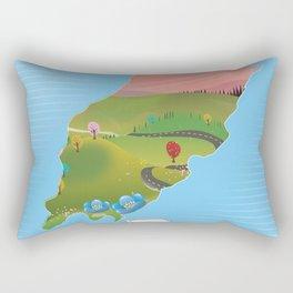 Isle of Man travel poster Rectangular Pillow