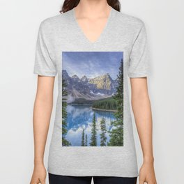 Moraine Lake #landscape #photography Unisex V-Neck