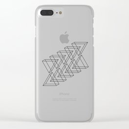 3D triangles Clear iPhone Case