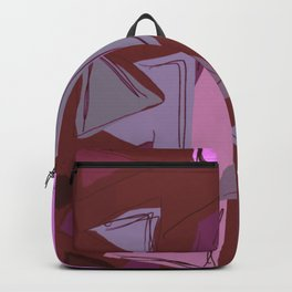 Cages at the Border Burgundy Tones #Abstract #Geometric #PoliticalArt Backpack