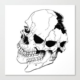 Skull (Fragmented and Conjoined) Canvas Print
