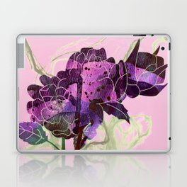abstract bouquet pink purple Laptop & iPad Skin