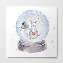 Christmas bunny #3 Metal Print