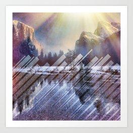 Winter Sun Rays Abstract Nature Art Print