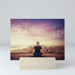 meditative music Mini Art Print