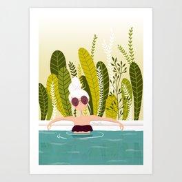La piscine Art Print