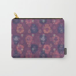 Lotus flower - mulberry woodblock print style pattern Carry-All Pouch