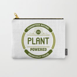 100% Plant Powered & Organically Fueled Green Badge Carry-All Pouch