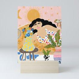 Cozy saturday evening Mini Art Print