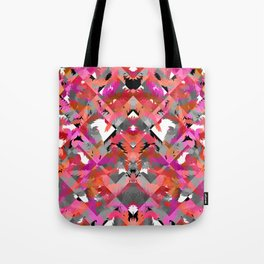 Feather Grey Red Tote Bag