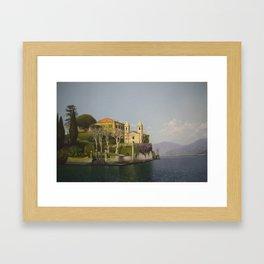 Villa at Lake Como Framed Art Print