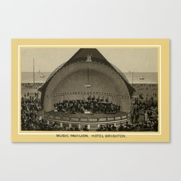 Coney Island - Music Pavilion, Hotel Brighton  Canvas Print