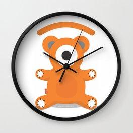 ted.eye bear Wall Clock