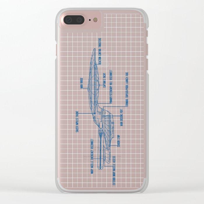 ENTERPRISE NCC-1701-D Clear iPhone Case