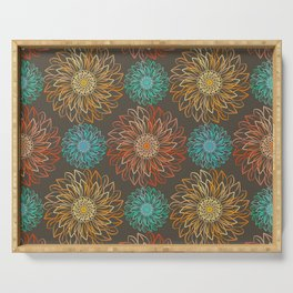 Autumn Sunflowers Serving Tray