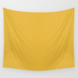 Mustard - Solid Color Collection Wall Tapestry