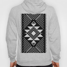 Aztec boho ethnic black and white Hoody