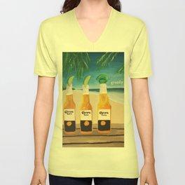 Greedy - Corona Ad Painting Unisex V-Neck