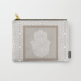 Hamsa in morrocan pattern Carry-All Pouch