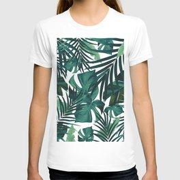 Tropical Jungle Leaves Pattern #1 #tropical #decor #art #society6 T-shirt