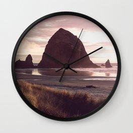 Cannon Beach Sunset Wall Clock