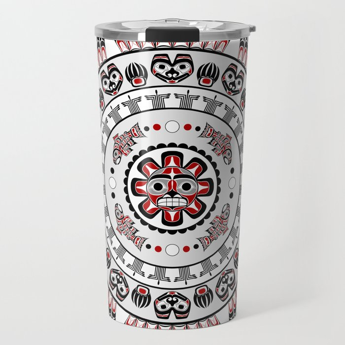 Studio Dalio - Pacific Northwest Native American Art Mandala Travel Mug