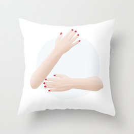 (Hug me) please Throw Pillow
