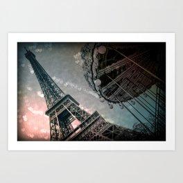 I Dream of Paris Rose Pink Art Print